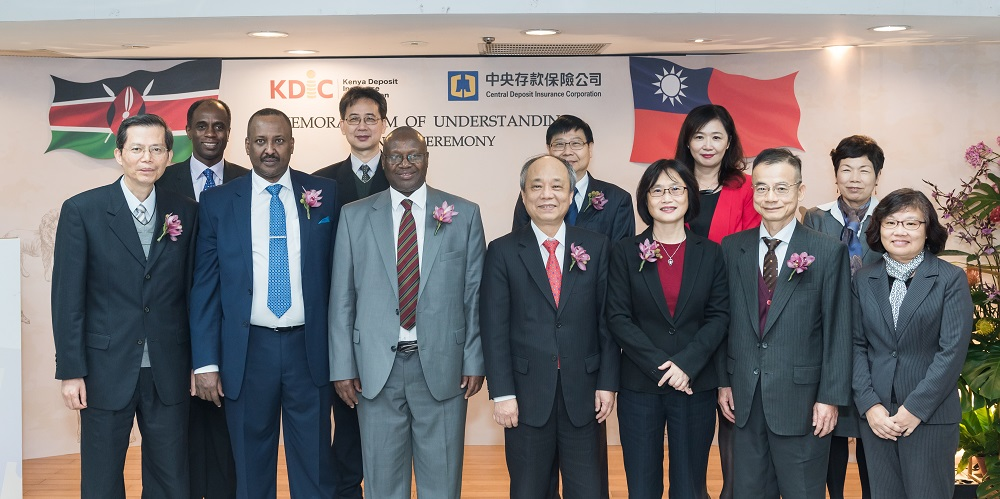 The KDIC Delegation to Taipei led by Chairman Mr. James Lopoyetum, pose for a group photo with their Taipei counterpart shortly after signing the MoU between KDIC and CDIC in Taipei Taiwan.