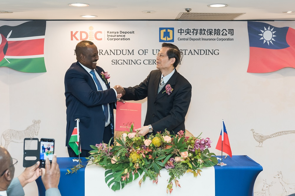 To a great future ahead.....CEO Mr. Mohamud Mohamud with his CDIC counterpart Mr. W. SU are all smiles after putting pen to      paper in Taipei, Taiwan in Dec. 2019.